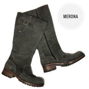 Merona 'Kamischel' Gray Suede Lug Boots [size 9]
